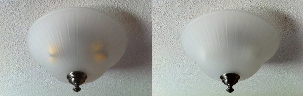 Philips-versus-EcoSmart-bulbs-in-fixture-turned-off