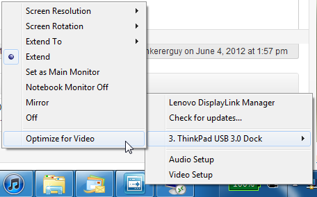 DisplayLinkOptimizeForVideoShouldBeTurnedOffForWindows7