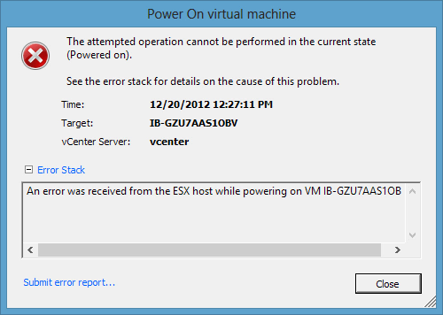 Power-On-virtual-machine-error