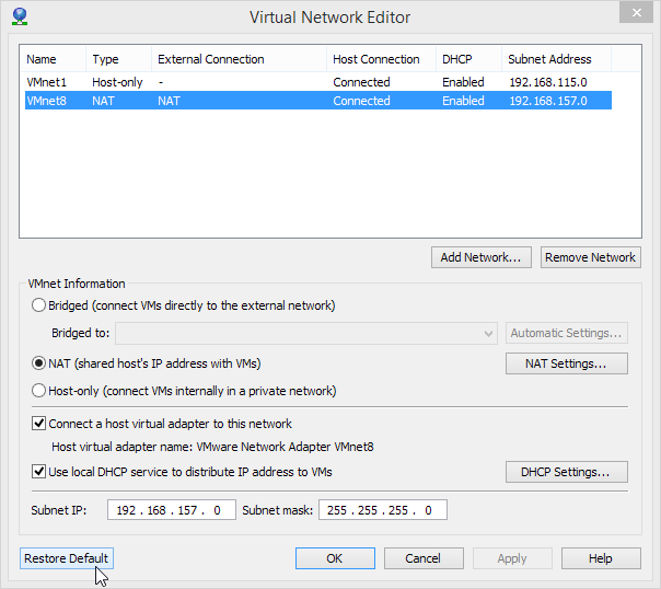 VMware-Workstation-Virtual-Network-Editor-needs-Restore-Default-clicked