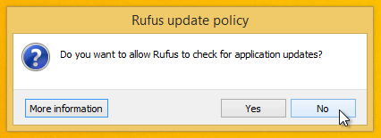Rufus-update-policy-Do-you-want-to-allow-Rufus-to-check-for-application-updates-select-No
