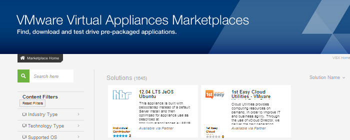 VMware-Virtual-Appliances-Marketplaces