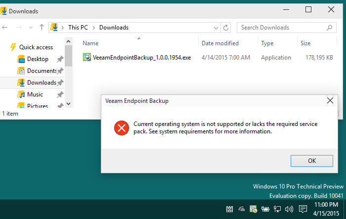Veeam-Endpoint-Backup-warning