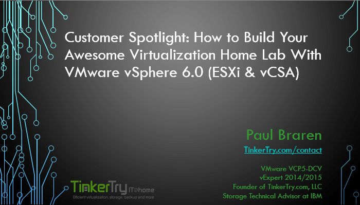 CustomerSpotlightVMUGPresentationCoverPage