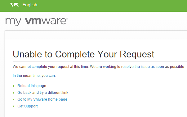 VMware-Unable-to-Complete-Your-Request