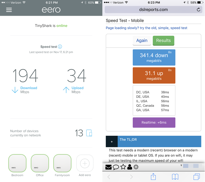 eero-speed-results-versus-dslreports-results-reported-by-TinkerTry-on-Nov-17-2016-at-623pm.PNG