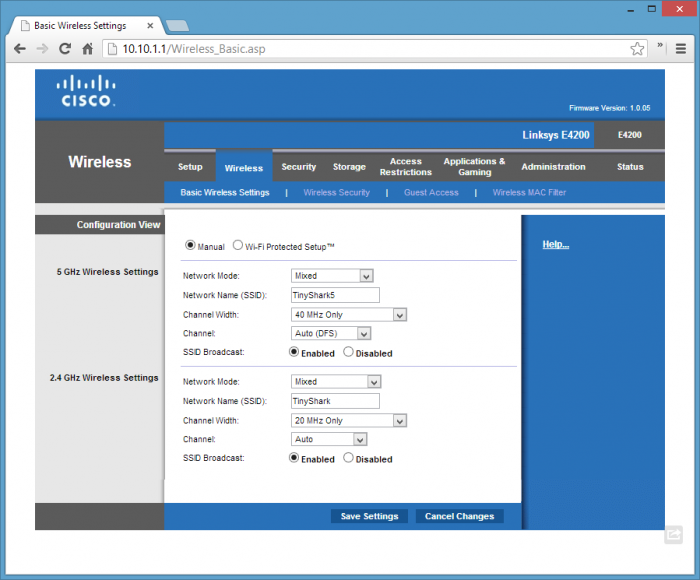 Cisco-setup-WiFi-dual-band