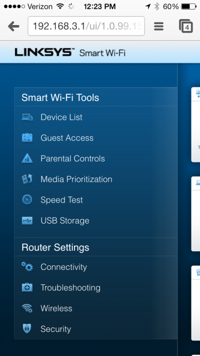 Chrome-on-iOS-view-of-Linksys-EA6900