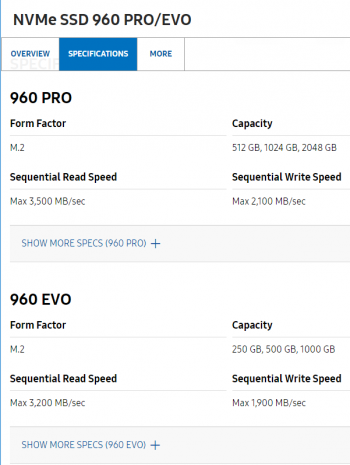 Samsung-960-specifications