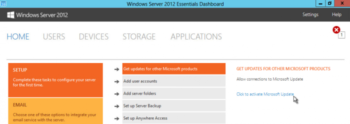 Windows-Server-2012-Essentials-Dashboard-click-HOME-Get-updates-for-other-Microsoft-products-Click-to-activate-Microsoft-Update