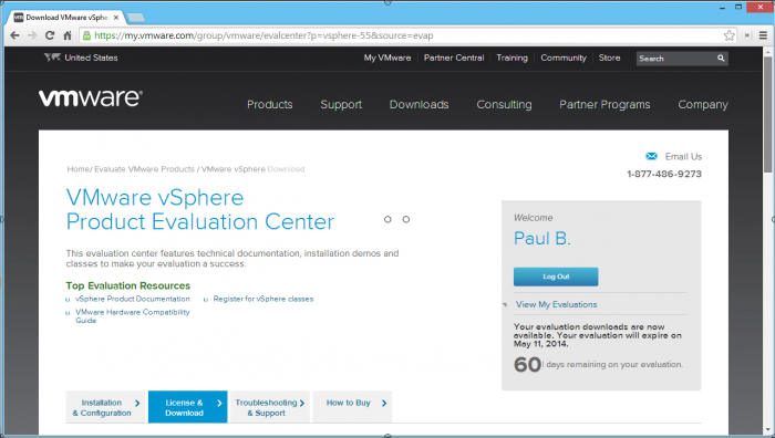 VMware-vSphere-Product-Evaluation-Center
