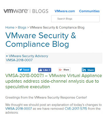 vmsa-2018-0007-1-vmware-virtual-appliance-updates-address-side-channel-analysis-due-speculative-execution