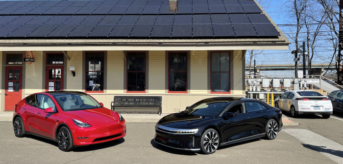 Tesla-Model-Y-and-Lucid-Air-lined-up-Westport-CT-EVfreedomCT-by-Paul-Braren-2021-03-22-IMG_2680