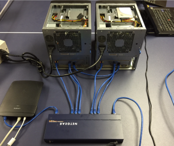 Here's the temporary configuration of 2 SuperServers