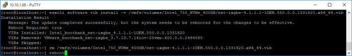 10gbe-vib-install-and-cleanup-successful