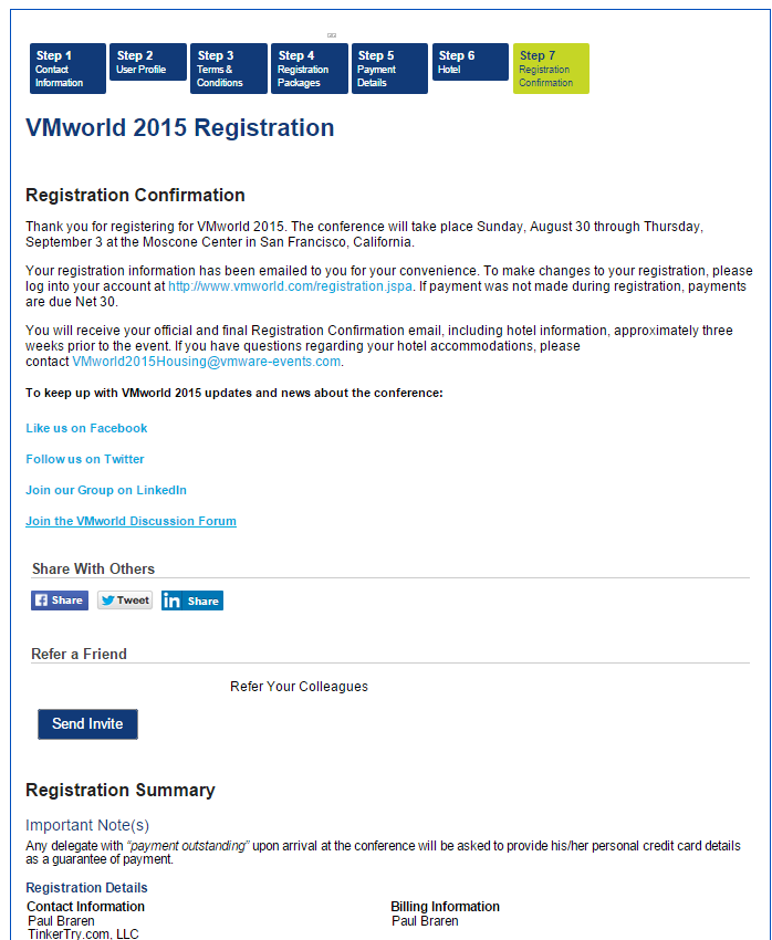 VMworld-Registration