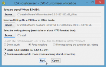 ESXi-Customizer-Settings