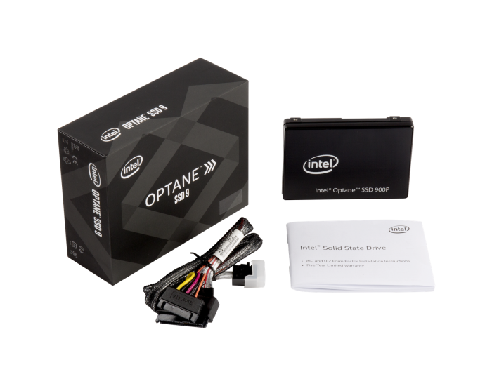 Intel Optane SSD 900P Series U.2 Box Contents MiniSAS Cable