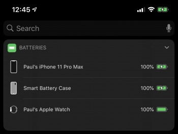 Paul-Braren-iPhone-11-Pro-Max-screenshot-of-charge-status-Apple-Smart-Case-on-2019-09-22--TinkerTryIMG_0180