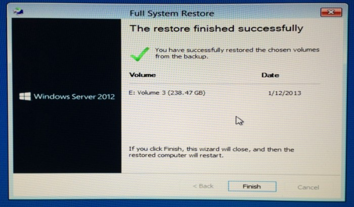 Windows-Server-2012-Essentials-System-Restore-to-new-SSD-completed