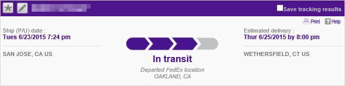 FedEx2DayTracking