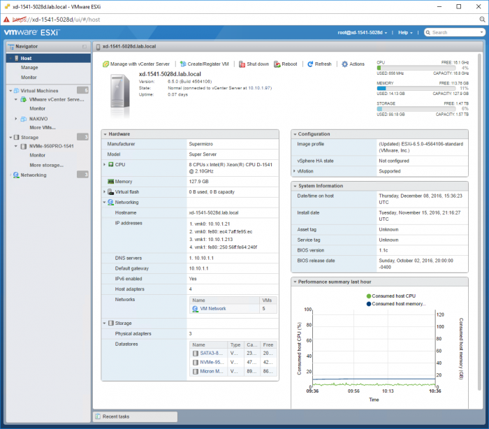 ESXi-host-client-view-of-SuperServer-Xeon-D