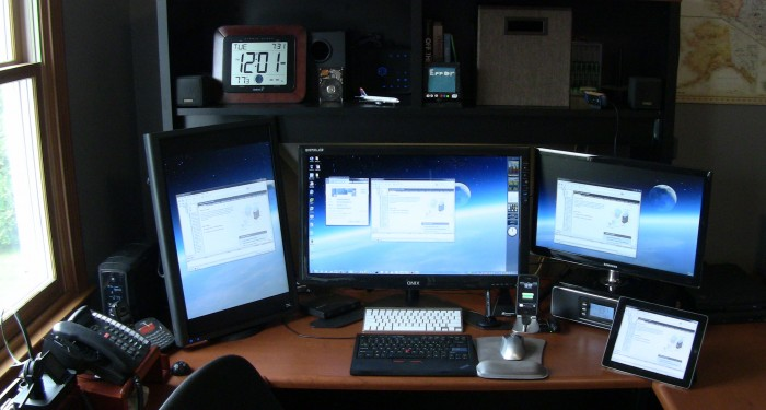 Quad-Monitor-Configuration-Office-Desk