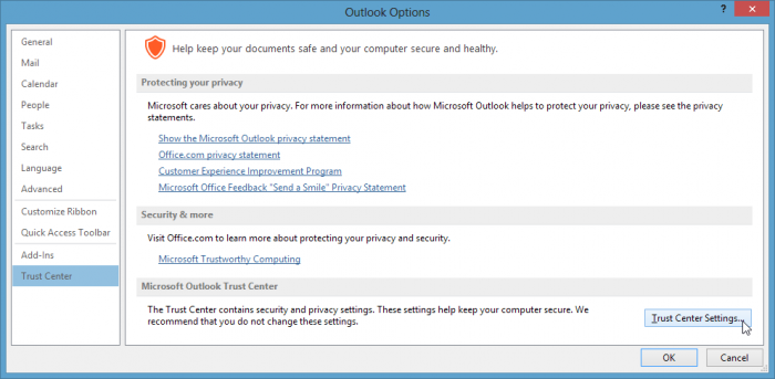 Outlook-Options-Trust-Center-Settings