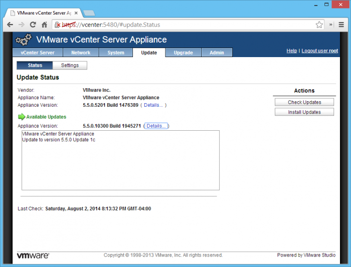 VMware-vCenter-Server-Appliance-Update-to-5.5.0-Update-1c
