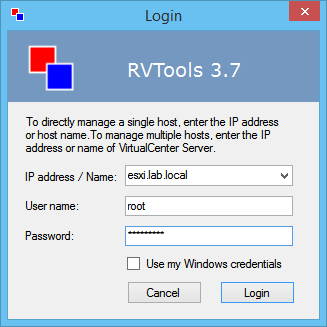 esxi-login-to-rvtools-3-7