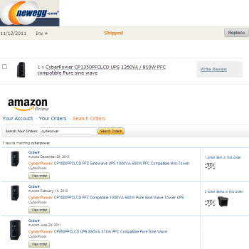 My-CyberPower-PFCLCD-UPS-Order-History-on-Newegg-and-Amazon