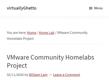 vmware-community-homelabs-project