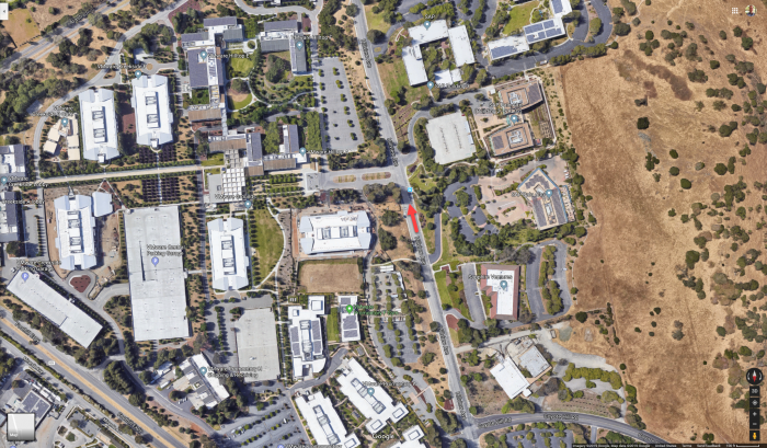 Tesla-Model-3-Full-Self-Driving-driver-passes-VMware-and-SAP-campuses-on-Google-Maps-2019-05-02--TinkerTry