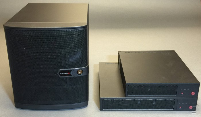 TinkerTry-front-view-comparison-Supermicro-SuperServer-SYS-5028D-TN4T-and-SYS-E300-8D-and-SYS-E200-8D